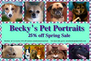 Artist Becky Herrera Is Offering A Discount On All Custom Pet Portraits
